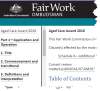 Briefing - Aged care Award